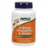 NOW 8 BILLION ACIDOPHILUS & BIFIDUS120KAPS.