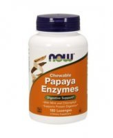 NOW PAPAYA ENZYMES 180 KAPS.